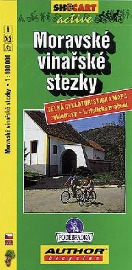 Mapa cykloturistická - Moravské vinařské stezky