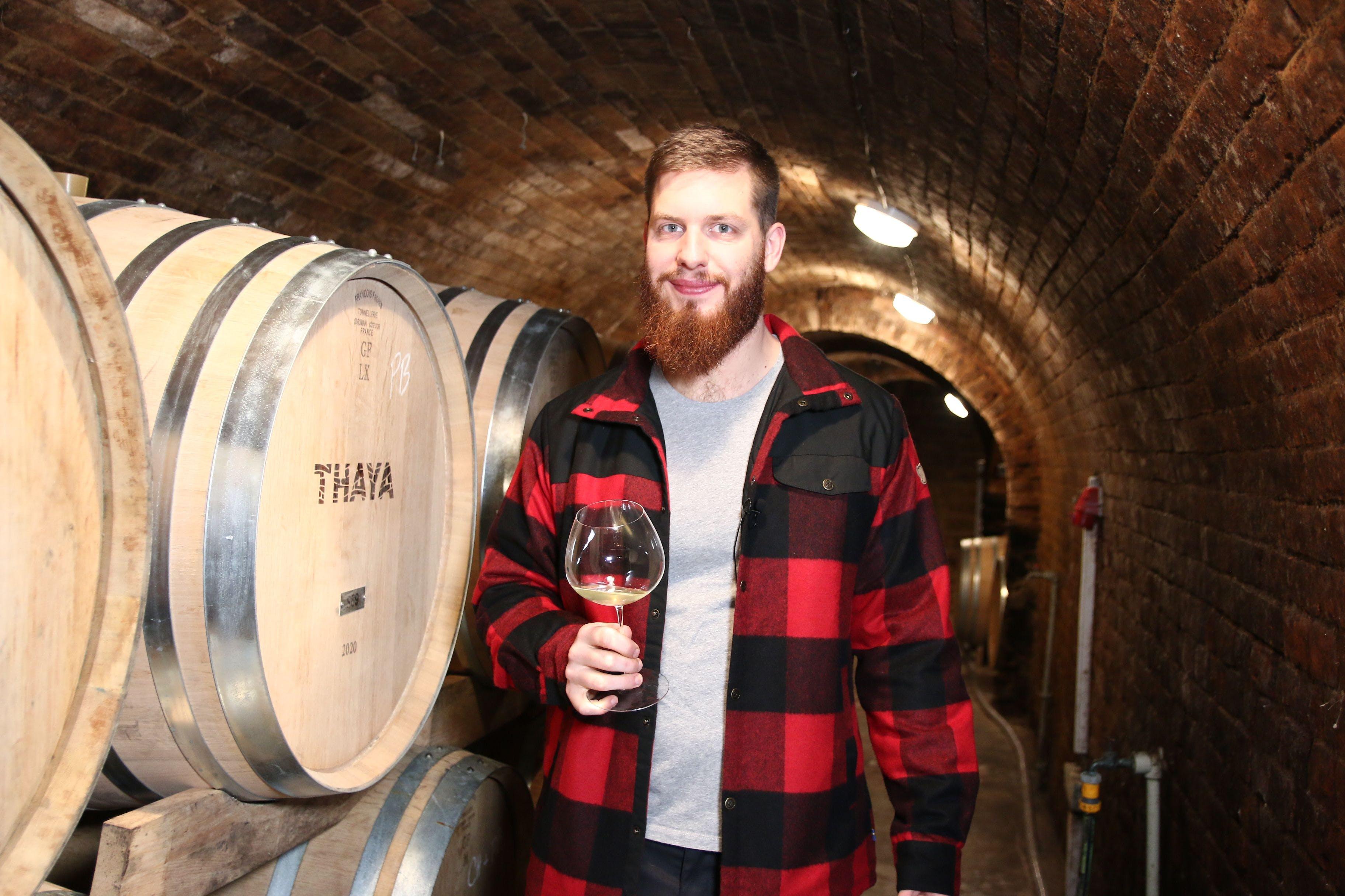 Jakub Smrčka, enolog vinařství THAYA