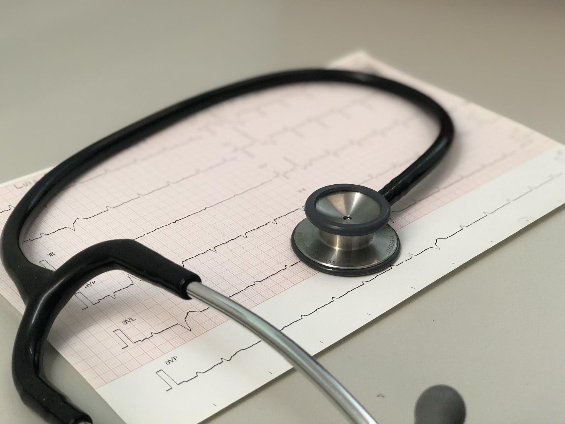 Hjerteflimmer diagnostiseres på EKG
