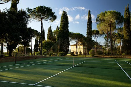 Villa La Tavernaccia offers a proper-sized private tennis court