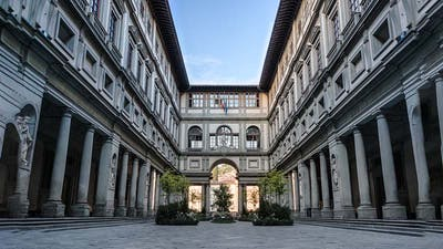 The Uffizi Galleries in the heart of Florence