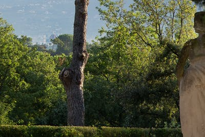 The open theater in the garden has a unique view on Florence