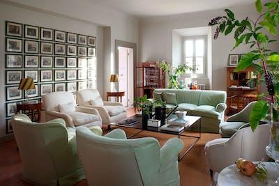 The second living room on the ground floor of Villa Tavernaccia