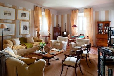 The first living room on the ground floor of Villa Tavernaccia