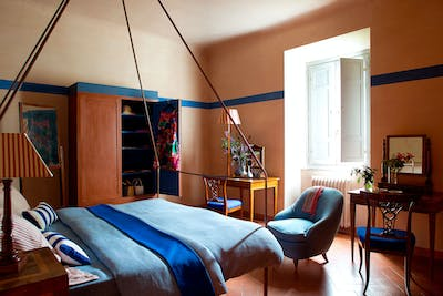 The first double bedroom on the first floor of Villa Tavernaccia
