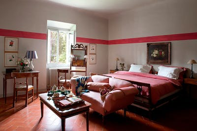The third double bedroom on the first floor of Villa Tavernaccia