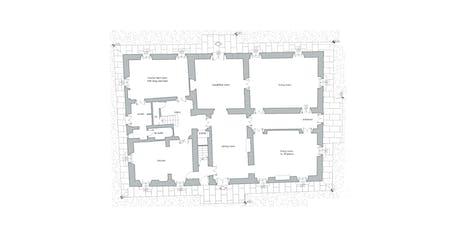 The map of the ground floor of Villa Tavernaccia