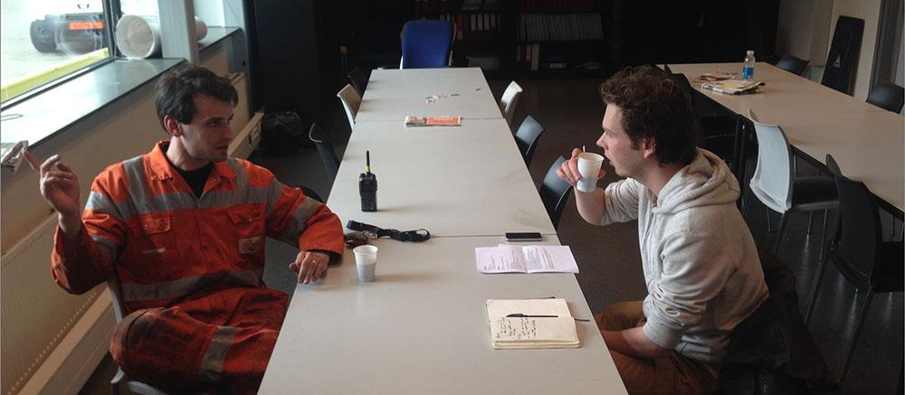 Interviewing terminal mechanic