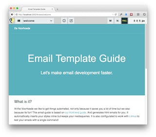 Screenshot of the Email Template Guide