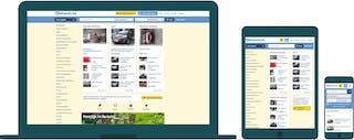 De 2dehands.be website weergegeven op desktop, tablet en mobiel