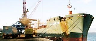Foto van een containerschip
