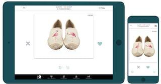 Swipe & Shop app op tablet en mobiel