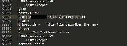 Root password extraction