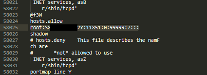 Credential firmware dump