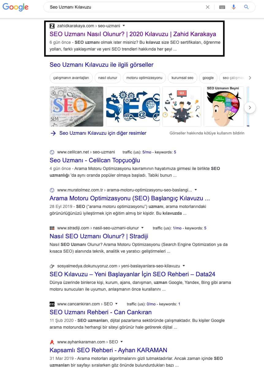 Seo Uzmanı Google İlk Sayfa