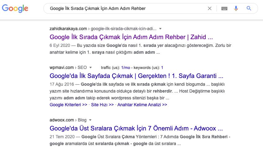 Google İlk Sırada Çıkmak İçin Adım Adım Rehber