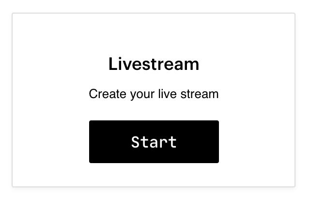 Create a Live Stream