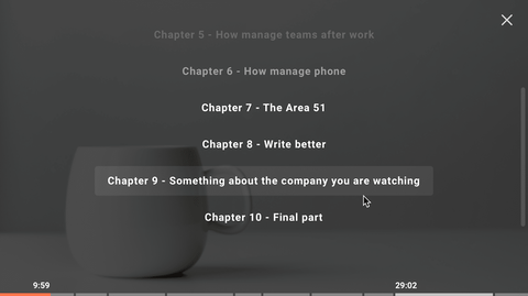 Adding chapters to your videos