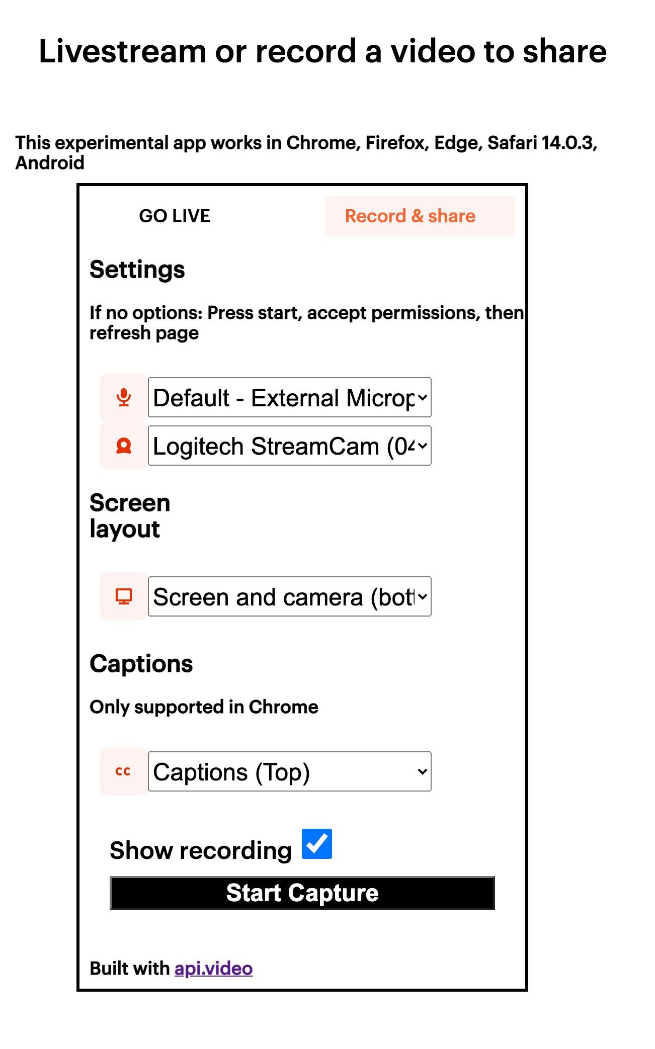 record.a.video menu