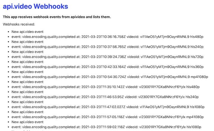 screenshot of webhook.a.video