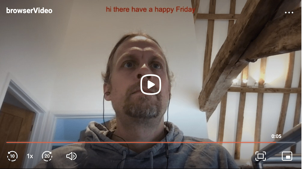 screen shot of a video recorded with live captions!