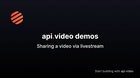 Sharing a Video: Sending a Video Via Live stream