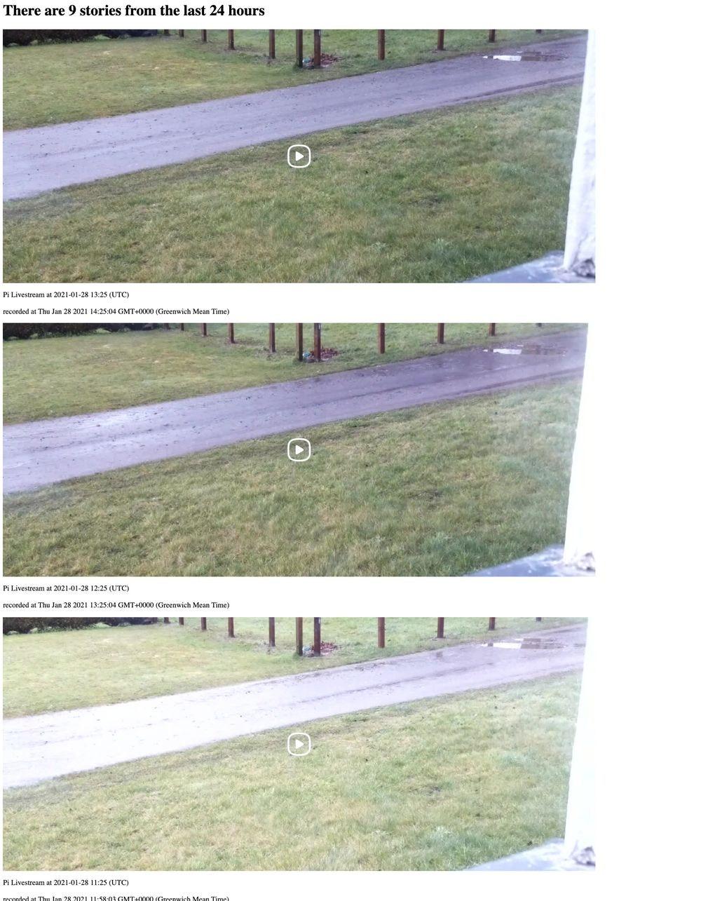 Screenshot of park video stories