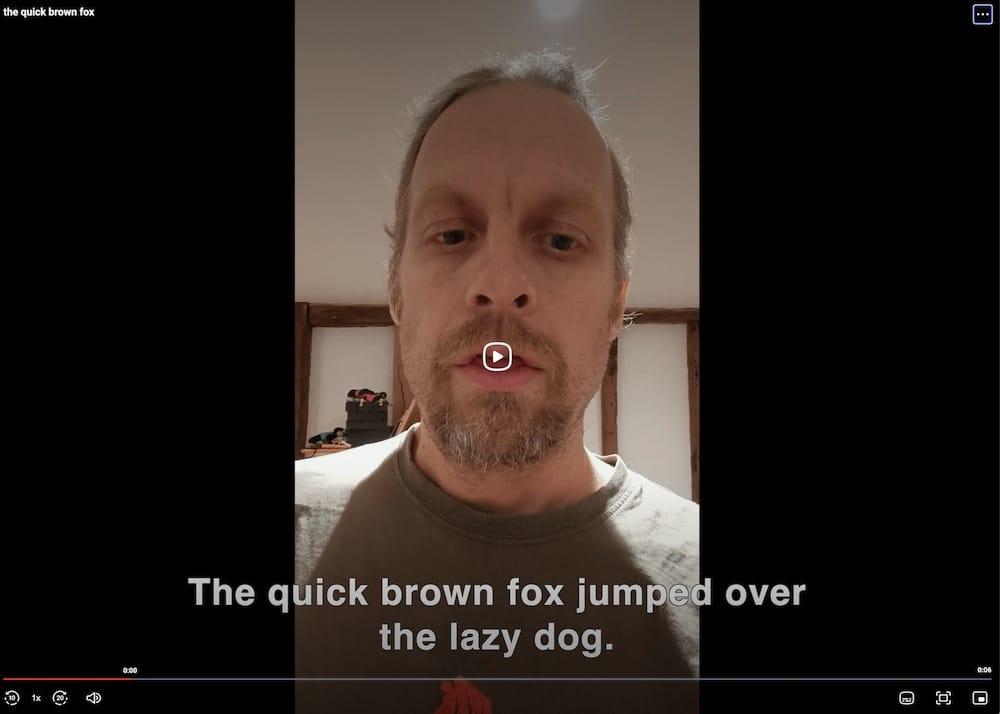 Auto Caption a video