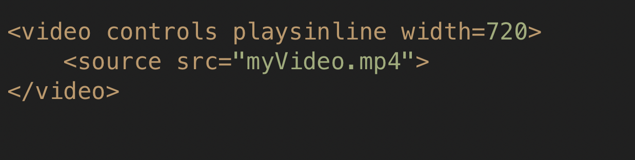 The code behind the magic: the <video> tag