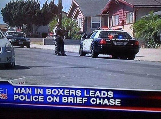 a sample chyron from a new story (with a pun on underwear).