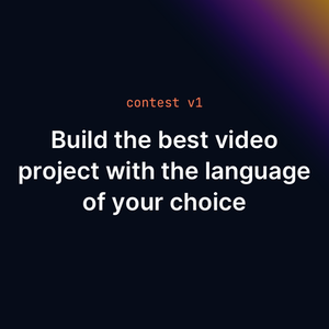 Be part of api.video's first online contest! We're looking for the most creative and inspiring implementation of our API