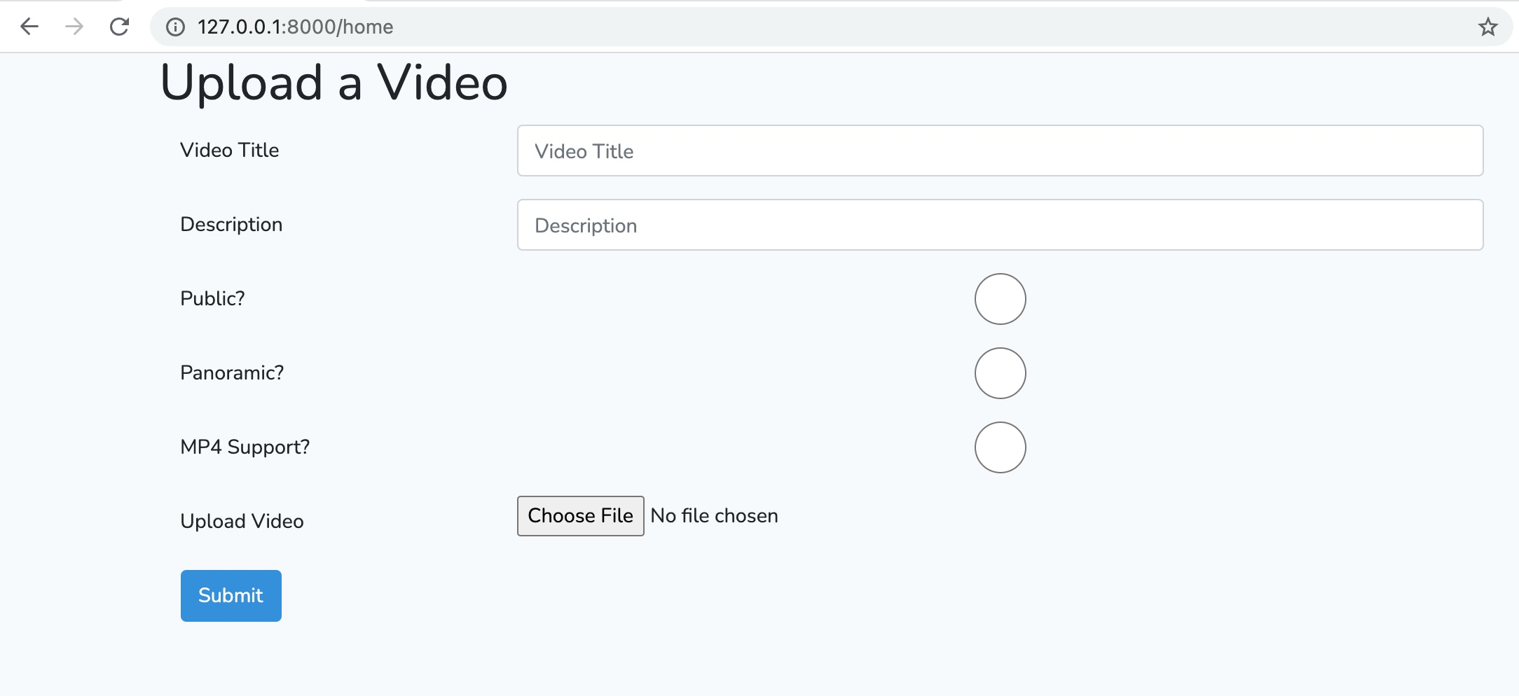 Image of upload form showing available fields