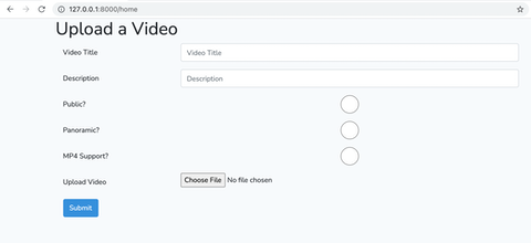 Upload a video with Laravel
