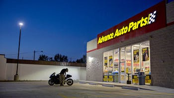 Advance Auto Store Front at Night