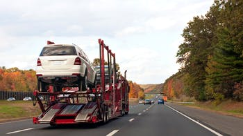 Truck Transporting Cars