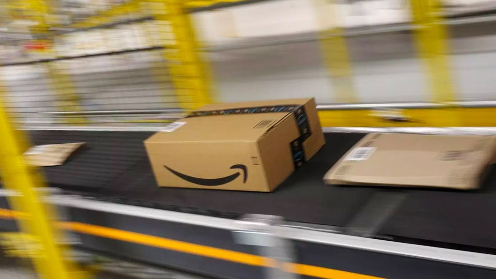Amazon package being shipped