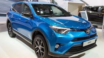 Blue Toyota Rav4