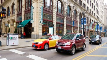Street of Chicago at daytime