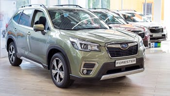 Subaru Forester in the show room