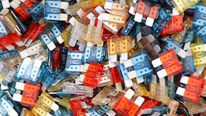 Pile of car fuses
