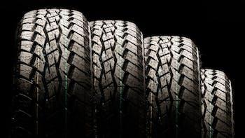 Four All Terrain Tires display