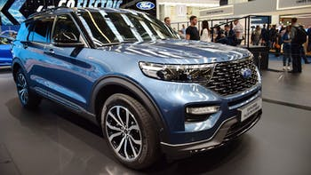 2019 Ford Explorer in a car show