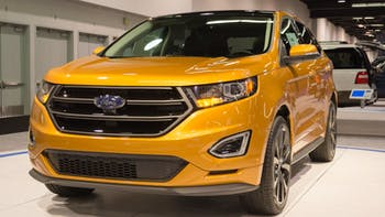 2015 Ford Edge in an auto show