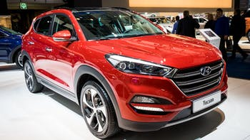 2017 Hyundai Tucson car in a car show