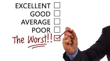 Satisfaction survey worst remark