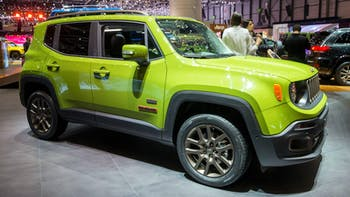 Jeep Renegade shown in a motor show