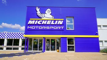 Michelin tire shop front view
