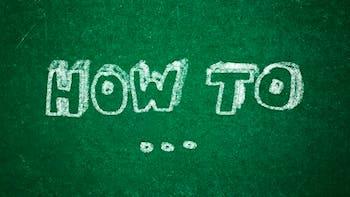 How to written on a green chalkboard