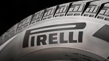 Pirelli tire close up