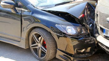 Cars in a traffic accident